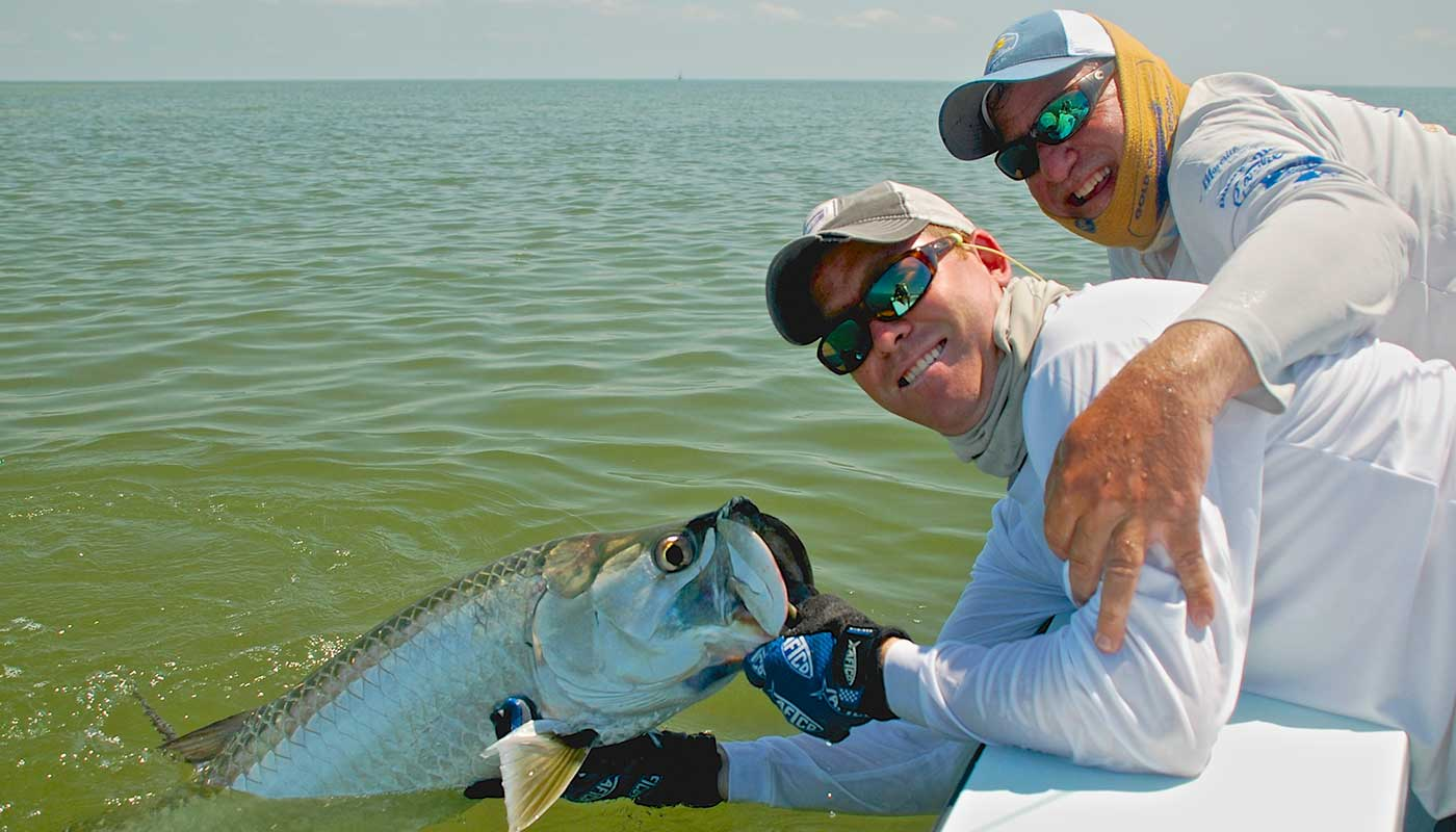islamorada-fishing-guide-capt-steve-client-permit-release