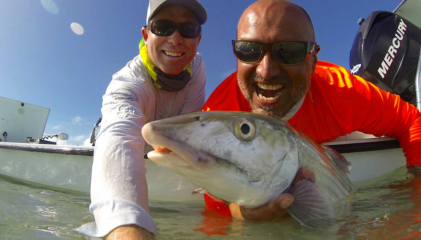 islamorada-fishing-guide-capt-steve-client-snook-release